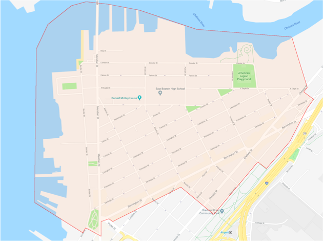Eagle Hill Civic Association Boundaries Map